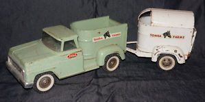 Tonka Farms Stepside Truck Horse Trailer Vintage RARE Collectible
