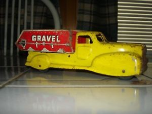 Vintage Marx Sand Gravel Toy Dump Truck Original Condition Very Nice