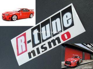 2pcs R Tune nismo Decal Sticker Nissan GTR R32 r33 R34 R35 CD7