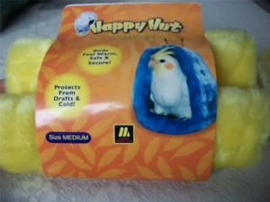 Multipet Happy Hut Yellow Medium Bird Hideaway Bed Cozy Nest for Cage New