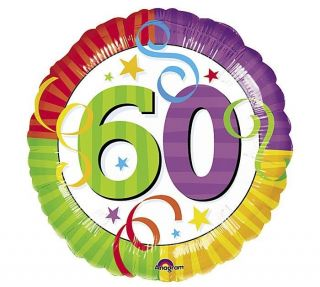 "Happy 60th Birthday 18"" Balloons Gift Party Decorations"