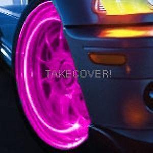 Pink Magenta LED Tyre Lights Tire Wheel Valve Stem Cap Light Car