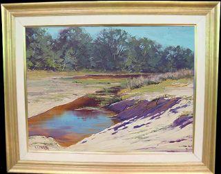 Coastal Plein Air Beach Central Coast Australia Original Fine Art Oil Painting