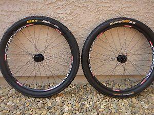 """Like New 26"""" DT Swiss X1600 Mountain Bike Wheelset w New Geax Michelin Tires"""