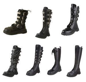 PLEASER Demonia Men's Gravel Rocky Leather Boots Size 4 13