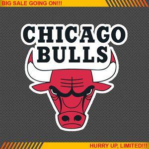 Chicago Bulls NBA Basketball Logos Car Bumper Window Wall Sticker