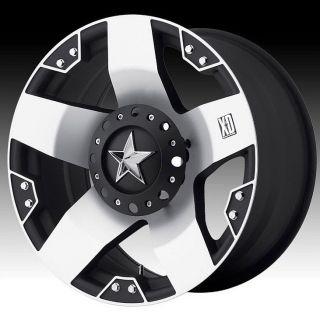 20 inch XD Rockstar XD775 Black Machined Wheels Rims 8x6 5 RAM 3500 Hummer H2