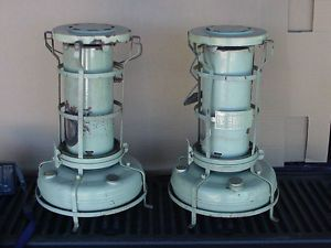 2 Vintage Aladdin Kerosene Heaters Blue Flame Heater from England H2201
