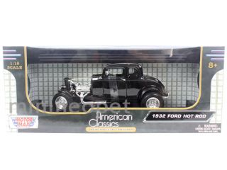Motormax American Classics 1932 32 Ford Coupe Hot Rod 1 18 Diecast Black