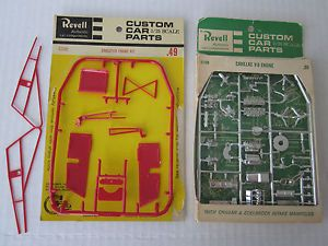 Lot of 2 Revell Parts Pack Cadillac Engine Dragster Frame AMT Johan Monogram MP