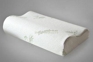 Bamboo Fiber 30x50 Rebound Memory Foam Pillow Slow Cervical Health Care B20E