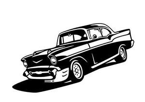 57 Chevy Hot Rod Custom V8 Decal Sticker