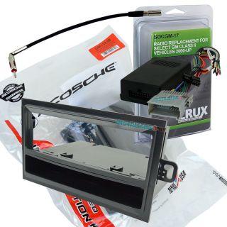 Hummer H2 Car Stereo Single DIN Mount Radio Install Dash Kit Combo GM1583B