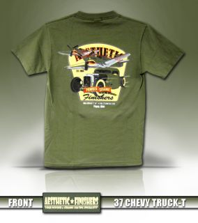 Aesthetic Finishers 1937 37 Chevy Truck Pick Up Hot Rod T Shirt