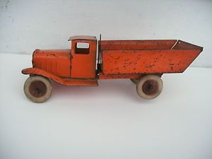 1930's Toy Truck Wyandotte Dump Truck Original Paint Wood Hubs Rubber Tires