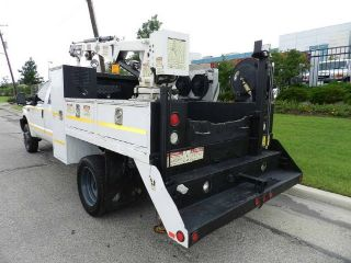2003 Ford F550 Service Utility 3200 lb Crane Truck for Sale 6 8L Gas Engine