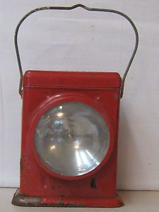 Vintage Delta Redbird Dry Cell Battery Lantern Flashlight