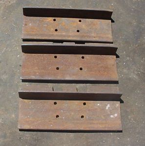 Lot of 3 John Deere JD 550 Crawler Dozer Track Pads JD550 Grouser Bar Pad Parts
