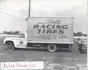 Vintage Drag Racing Photo George Folk Racing Tires Truck