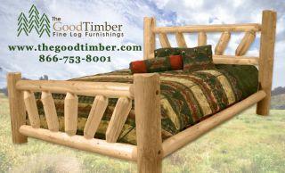 Sunburst Pine Log Bed Only $219 Ships Free Fast Rustic Cabin Beds Furniture