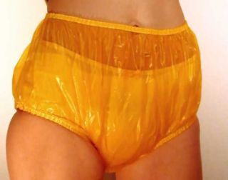 25 XXL Incontinence Vinyl Adult Plastic Pants Briefs Diaper Cover Amber Abdl