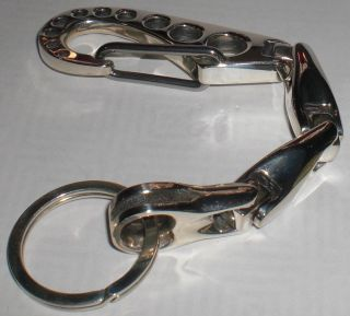 Bill Wall Leather KC717 U Joint Keychain 2000 Clip Solid Sterling Silver BWL