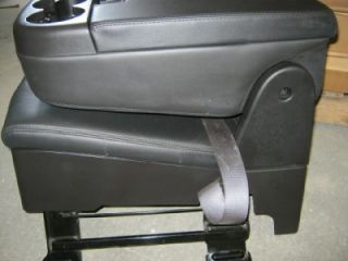 Chevy Silverado Tahoe GMC Sierra Truck Black Ebony Viny Center Console Jump Seat