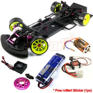 3Racing Sakura D3 1 10 Drift Car Beginner Battery Alum Parts ESC Motor CB0618