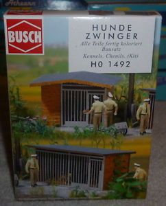 Busch HO Scale 1 87 Kennels 2 Kit 1492