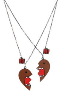 Domo BFF Best Friends Heart Necklaces