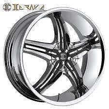"26"" 2CRAVE Chrome Wheels Rims Tires SUV Donk Car Truck"
