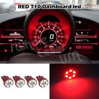 4X Bright Red Color Guage Cluster Instrument Speedometer Dash LED Light Bulb 168