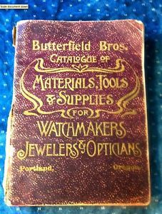 Butterfield Bros Antique Watchmakers Catalogue Materials Tools Supplies Portland