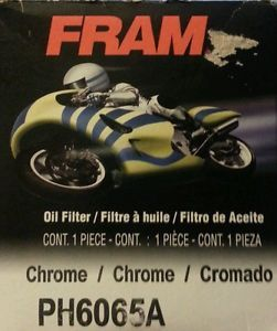 Fram PH6065A HD Harley Oil Filter Chrome New
