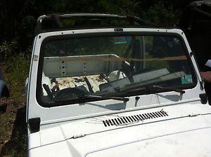 Suzuki Samurai Windshield Frame Great Shape No Glass Wipers or Motor Rearview