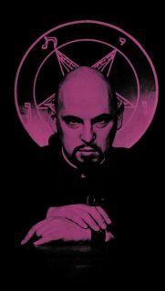 Leather Bound The Satanic Bible by Anton lavey Church of Satan Baphomet