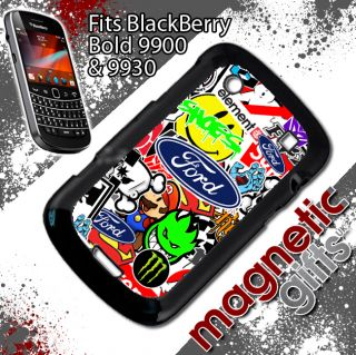 Ford Sticker Bomb Blackberry 9900 9930 Cover Case RS St Focus Fiesta Stickerbomb