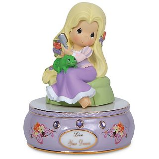 Precious Moments Disney Tangled Princess Rapunzel Musical Gift Music Box New
