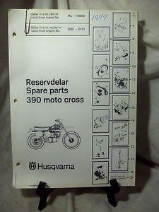Husqvarna Motorcycle 390 Moto Cross Spare Parts Manual 1977