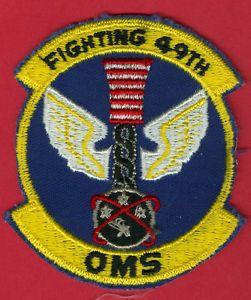 A USAF U s Air Force 49th Organizational Maintenance Squadron Patch