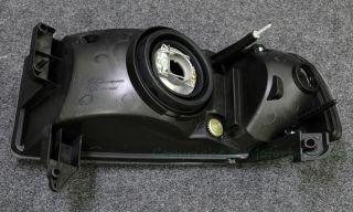 94 01 Dodge RAM Series Pickup Front Bumper Headlight Lamp Black Housing Clear