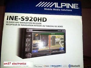 Brand New Alpine Ine S920HD Double DIN Radio Bluetooth GPS Navigation