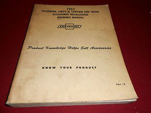 Original 1963 Chevrolet All Car Truck Accessories Installation Manual Catalog