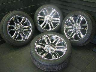 "22"" Ford F150 Chrome Factory Platinum Wheels Rims Tires Pirelli 10 32"