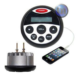 New Marine Boat Waterproof MP3 USB FM Am iPod Radio Stereo 1 yr Warranty