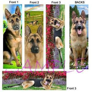 3 Lot German Shepherd Dog Bookmarks Book Mark Card Art