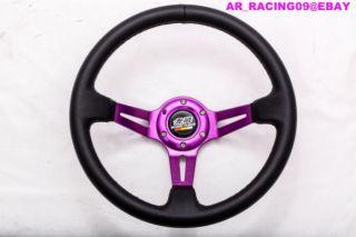 Drift Racing Rally Deep Dish Steering Wheel Purple Mugen 240sx 350Z EVO STI TC