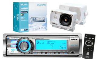 Sony 208W New CDXM60UI Marine Boat Marine CD MP3 Radio 2 Speakers 4 Outdoor Use