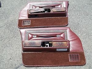 1977 Lincoln Continental Town Car Front Door Panels for A 4 Door