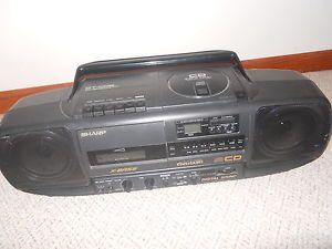 Sharp Portable CD Cassette Radio Boombox
